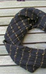 Væv P2: Tørklæde m.hørløkker